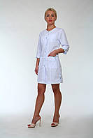 Женский медицинский халат на кнопках 2186 (батист 42-60 р-ры ), фото 1