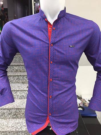 АКЦИЯ!!!Рубашка длинный рукав Paul Jack стойка в клетку, фото 2