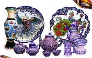 Посуд, ручна робота, з міста Риштан