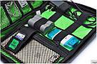 """Сумка органайзер для проводов USB кабелей """"Хаки темно-зеленый"""", фото 3"""