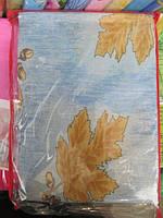 Постельное белье двуспальное недорогое Инесс с листочками