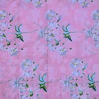 Постельное белье на розовом белые цветочки