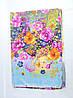 Постельное белье двуспальное с разноцветными цветочками