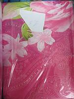 Постельное белье на малиновом розовые розы