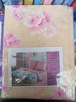 Постельное белье двуспальное с розовыми цветами