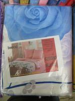 Постельное белье двуспальное с синими розами