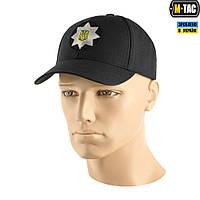 Бейсболка M-TAC Police рип-стоп, черная, фото 1