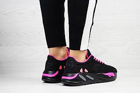 Модные женские кроссовки Adidas x Yeezy Boost 700 Black/Pink (реплика), фото 2