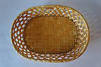 Плетенная овальная вазочка