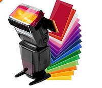 Набор цветных фильтров для вспышек 12 шт , фото 1