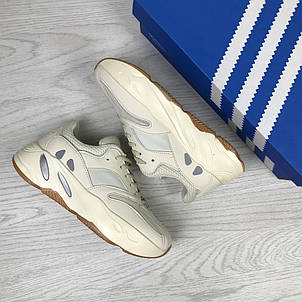 Модные женские кроссовки Adidas x Yeezy Boost 700 Beige (реплика), фото 2