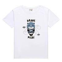 Футболка BRAVE PILOT детская белая