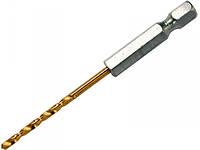 Сверло по металлу HSS-TiN 4х95мм с хвостовиком HEX YATO
