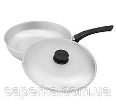 Сковорода алюминиевая с крышкой, 24 см Биол