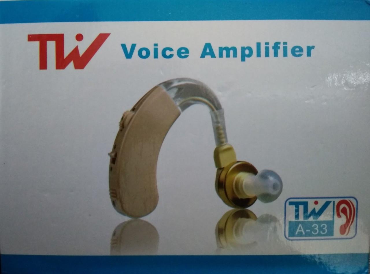 Заушный слуховой аппарат TW A-33 + батарейки в подарок