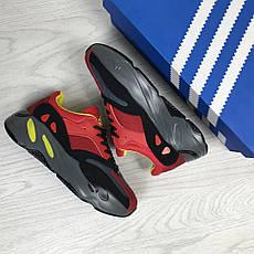 Модные женские кроссовки Adidas x Yeezy Boost 700 Red/Black (реплика), фото 2