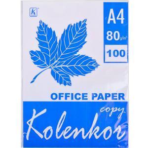 Бумага для ксерокса А4 «Коленкор» 100 листов, 80 г/м²                         B100OF65