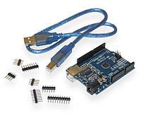 Arduino UNO smd аналог R3 + USB-кабель , фото 1