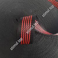 Лента буксировочная 25 мм х 50 метров - тесьма для стяжных ремней черная