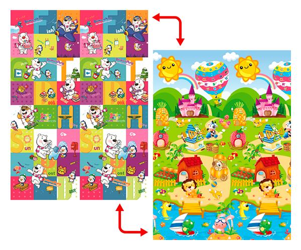 Развивающий коврик Babypol для детей 1800x2000 Маленькая страна/Мишки