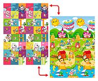 Развивающий коврик Babypol для детей 1800x2000 Маленькая страна/Мишки, фото 1