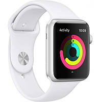 Apple Watch Series 3 42mm Aluminium Silver Case with White Sport Band (MTF22)