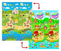 Развивающий коврик Babypol 1800x2000 Сказчный город/Маленькая страна, фото 1