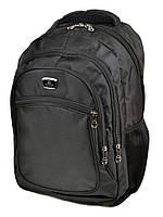 Черный текстильный рюкзак 7813 black школьный спортивный, фото 1