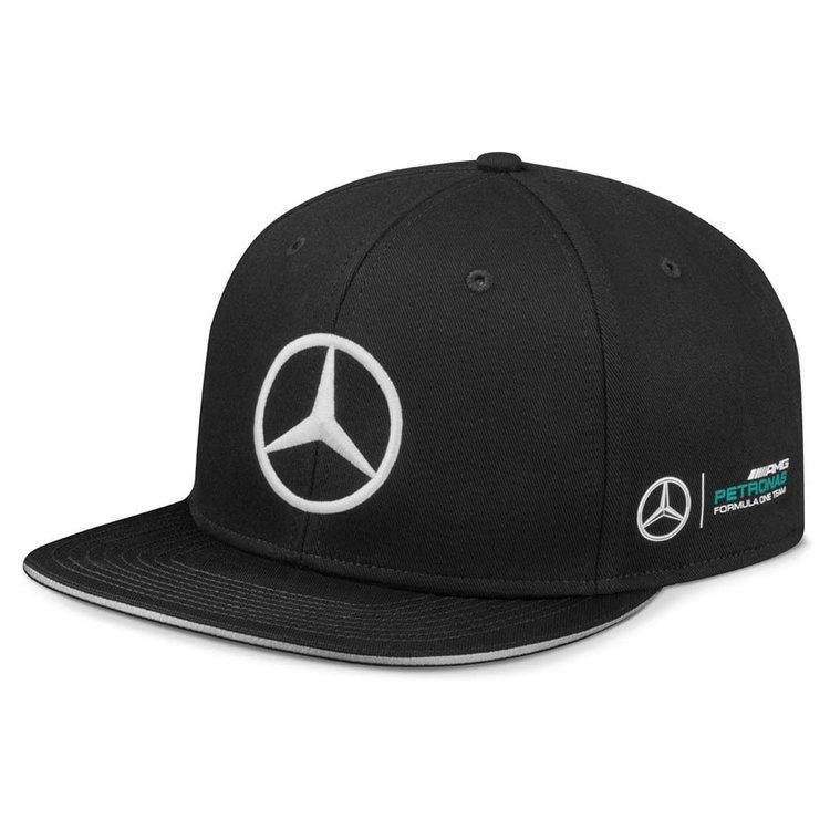 Бейсболка Mercedes F1 Cap Lewis Hamilton, Flat Brim, Black, Edition 2017, (B67995412)