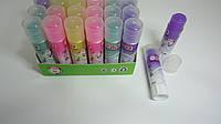 """Клей-карандаш Цветной """"Радужный Stick Фиолетовый"""",8гр,силикатный для школы и офиса.Клей-олівець Кольоровий сух"""
