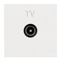 Розетка TV -R+SAT, білий колір, Zenit ABB NIESSEN N2251.3 BL, 2 модуля