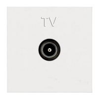 Розетка TV,  белый цвет, Zenit ABB NIESSEN N2250.7 BL, 2 модуля
