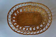 Плетенная овальная корзинка