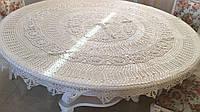 Скатертинаажурна ручної роботи на круглий стіл гачкована 172 см