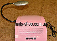 Вытяжка Simei 858-6 для маникюрного стола розовая