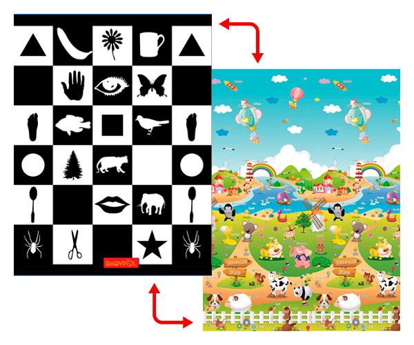Развивающий коврик Babypol 1800x1500 По Доману / Веселая Ферма