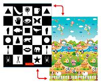 Развивающий коврик Babypol 1800x1500 По Доману / Веселая Ферма, фото 1