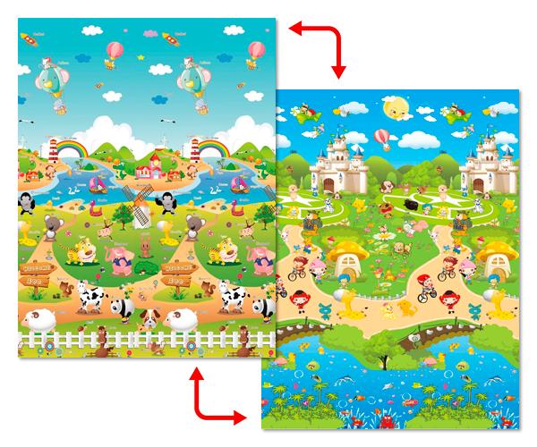 Развивающий коврик Babypol 1800x1500 Сказочная ферма