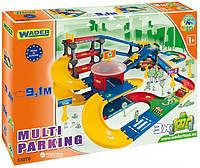 Мультипаркинг с дорогой 9.1 м Kid Cars 3D Wader 53070   3 машинки система сборки click-click в коробке