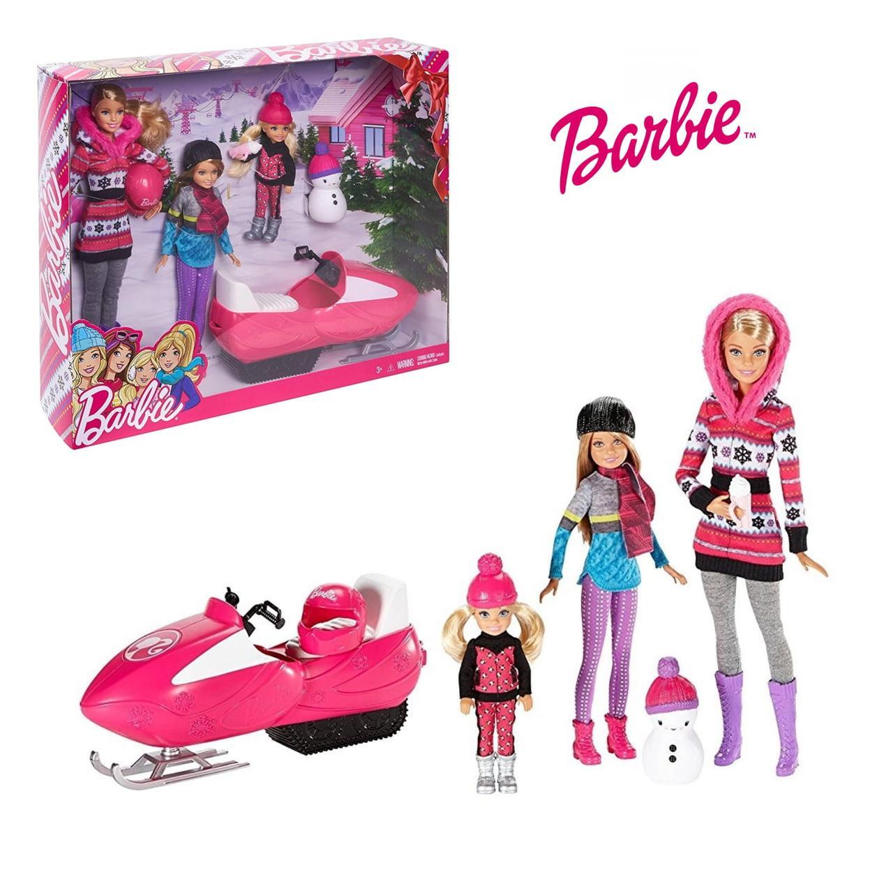 Набор кукла Барби и Сестры Снежная Забава Barbie Sisters Snow Fun Doll Giftset