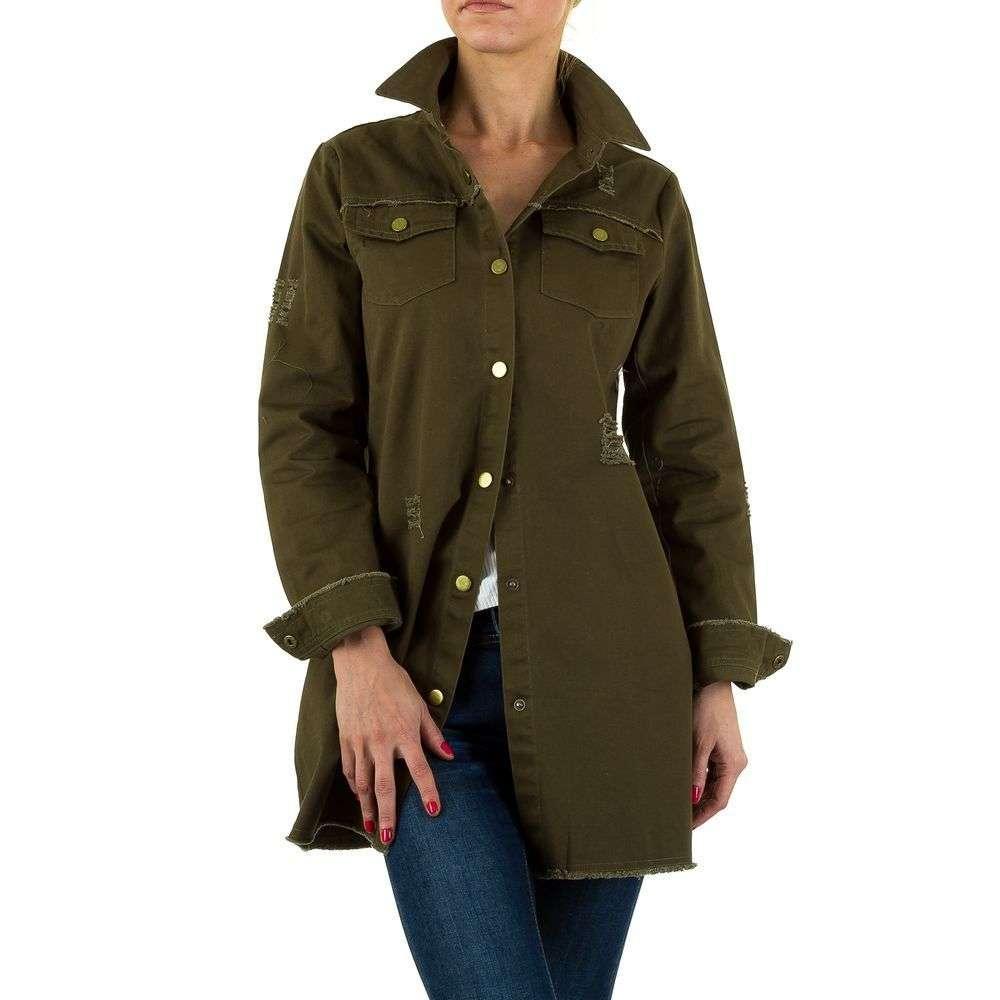 Легкая куртка женская оверсайз производителя Hf Fashion (Европа), Хаки