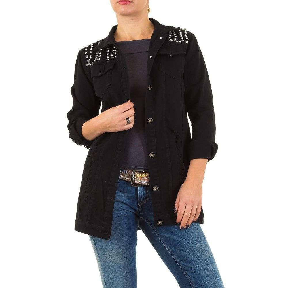 Джинсовый пиджак женский с бусинами Noemi Kent Paris (Франция), Черный
