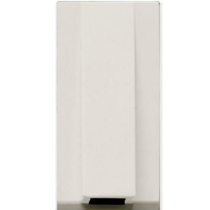 Вывод кабеля с зажимом,  белый цвет ZENIT ABB NIESSEN N2107 BL, 1 модуль