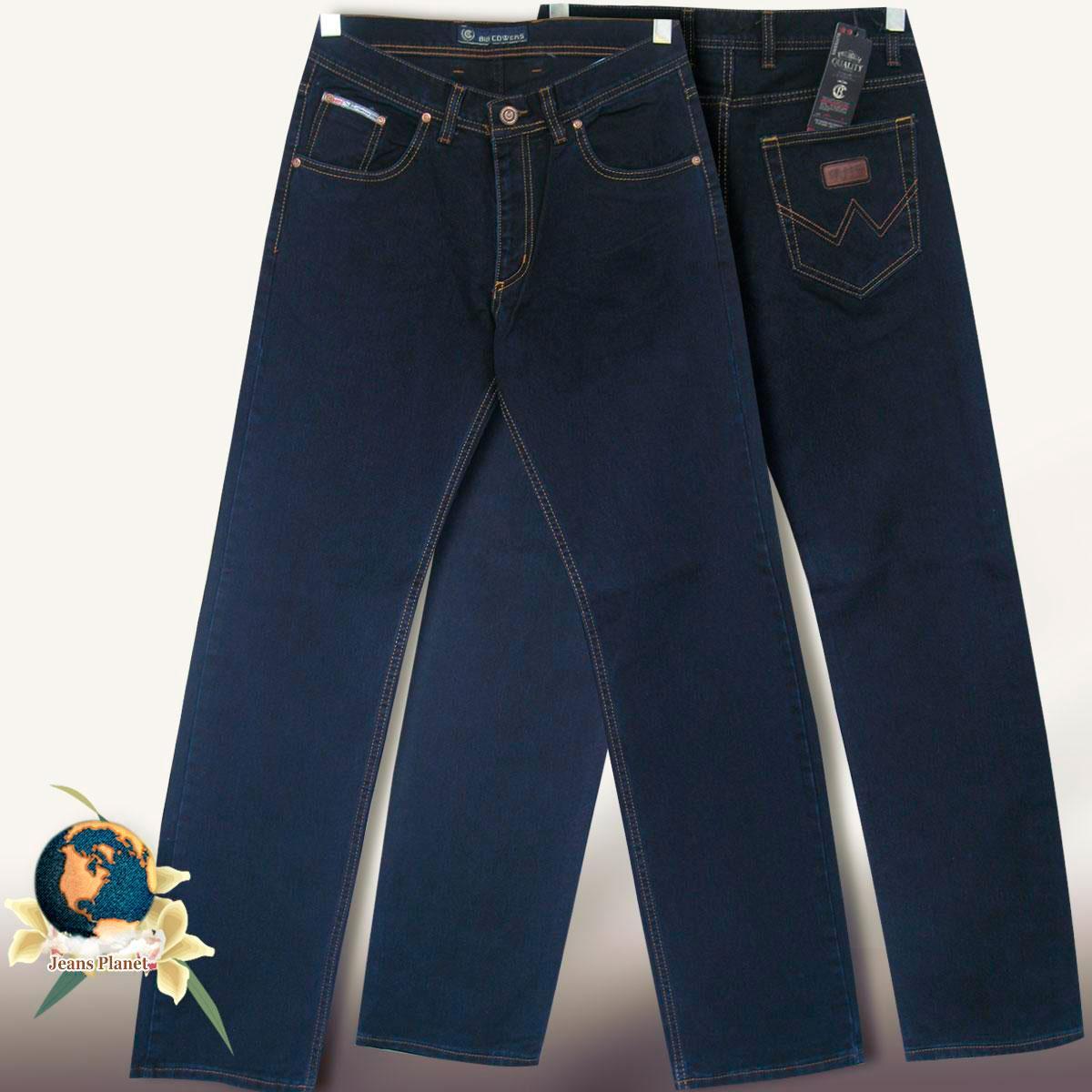 cfc58b6194f Джинсы мужские классические прямые тёмно-синие Big сovers стиль Wrangler