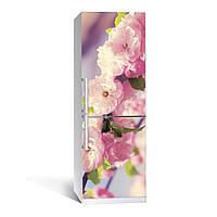 Наклейка на холодильник Романтик (цветы, декор холодильника, полноцветная печать)