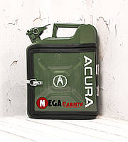 Канистра бар 10л с маркой авто Акура / Acura Подарок водителю, мужчине