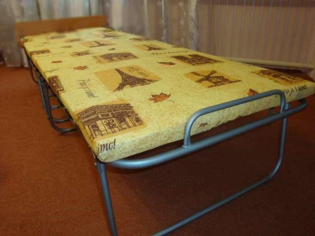 """Раскладная кровать (раскладушка) """"Комфорт - Люкс"""" на ламелях с ватным матрасом"""