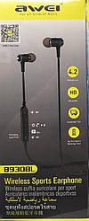 Наушники беспроводные AWEI MDR B930BL для спорта блютуз вакуумные