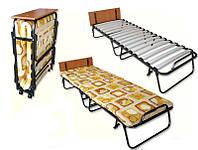 Раскладная кровать-тумба (раскладушка) на ламелях Витязь с подголовником