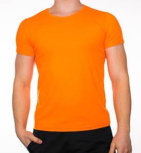 """Мужская футболка """"JUST"""" оранжевая"""